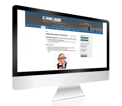 Cascade Credit page displayed on mobile device