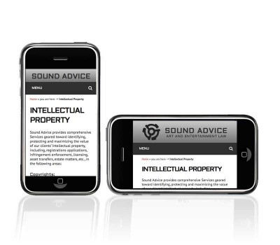 Sound Advice page displayed on mobile device